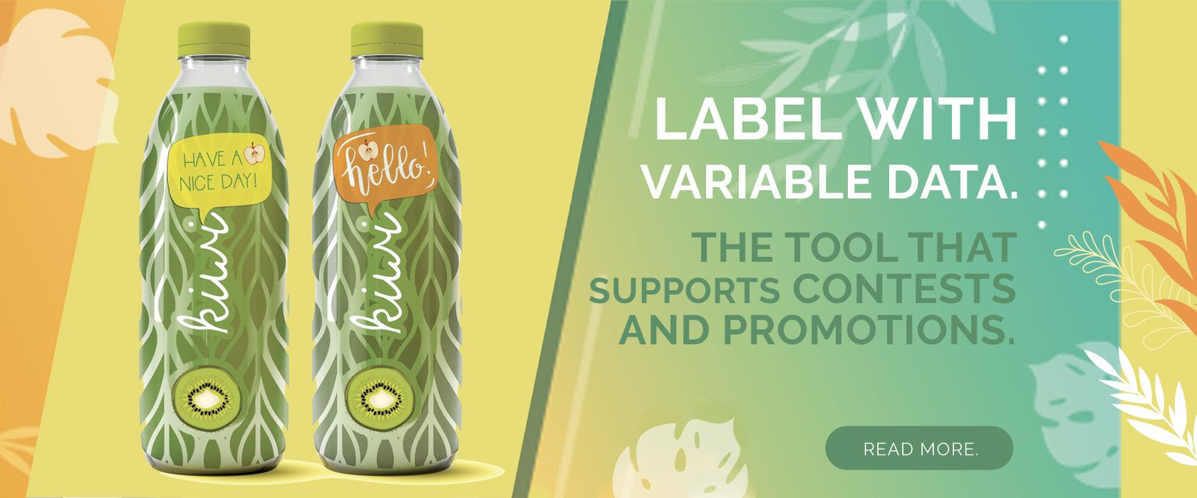 LABEL WITH VARIABLE DATA CONTESTS AND PROMOTIONS