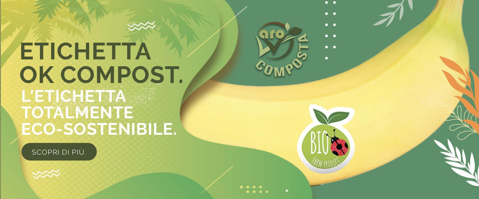 etichette compostabile compost eco sostenibile