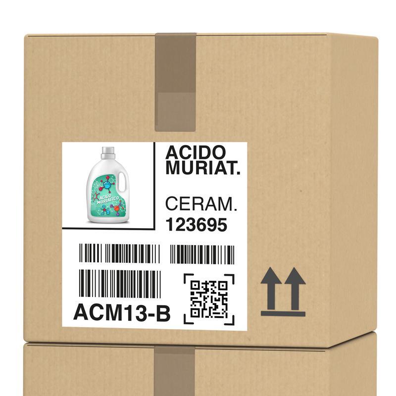 Etichetta logistica chimica